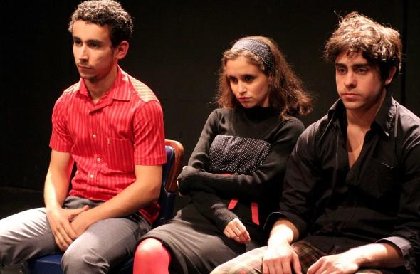 Atores: Paulo Verlings, Carolina Pismel e Felipe Abib. foto: divulgação.