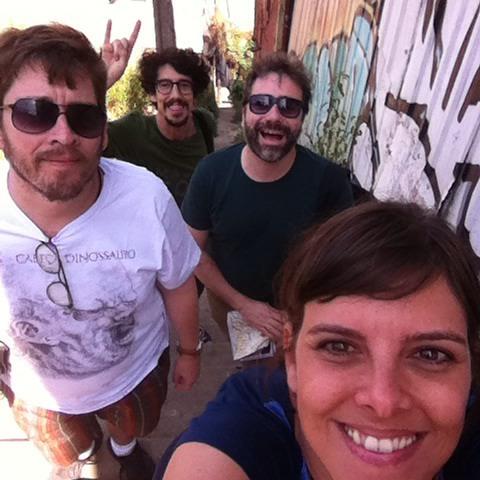 Gonçalo Amorim, Jorge Louraço, Felipe Vidal e Daniele Avila Small em Valparaíso.